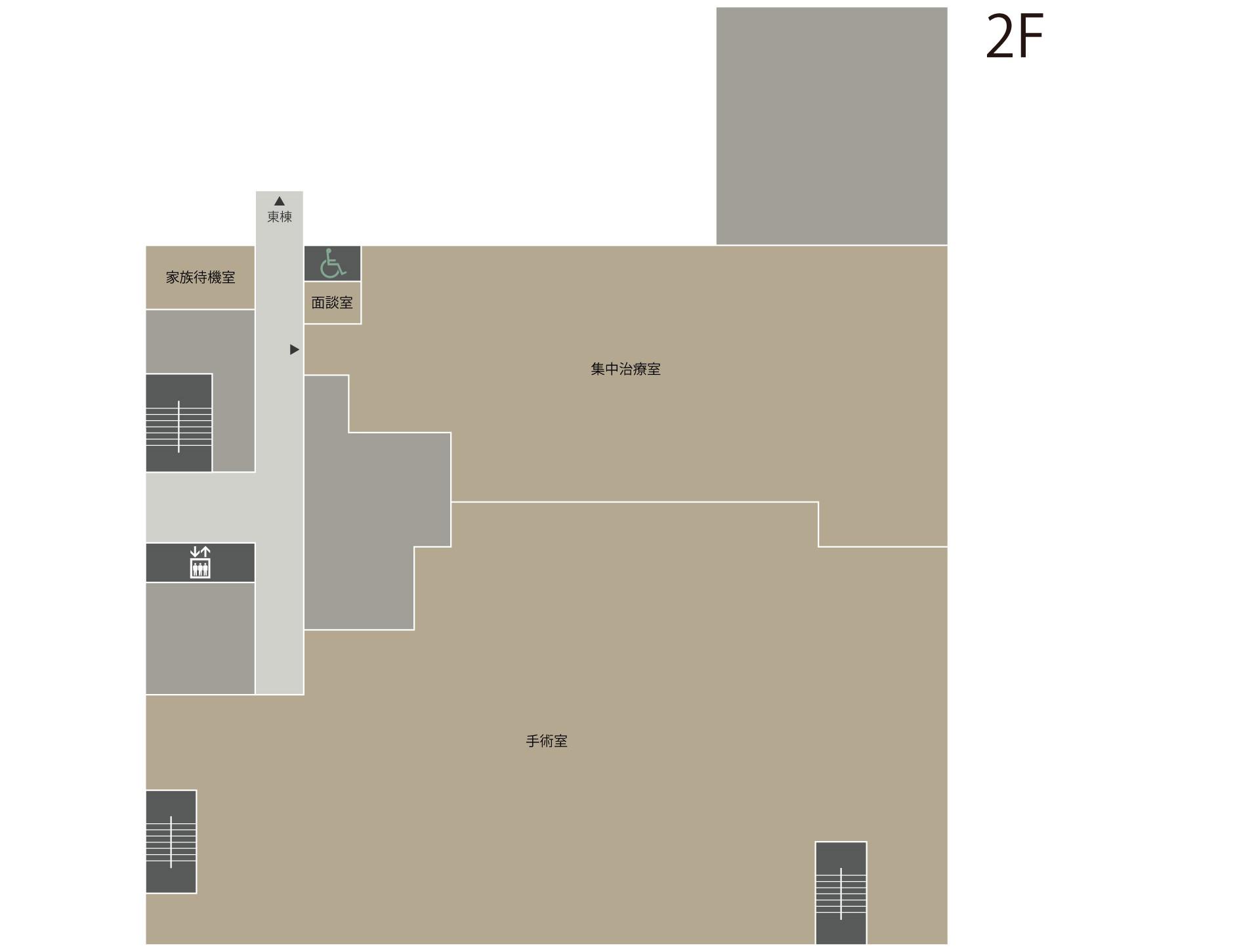 フロアマップ:西棟2階